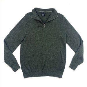 Calvin Klein Forest Green 1/4 Sweater Mens size M